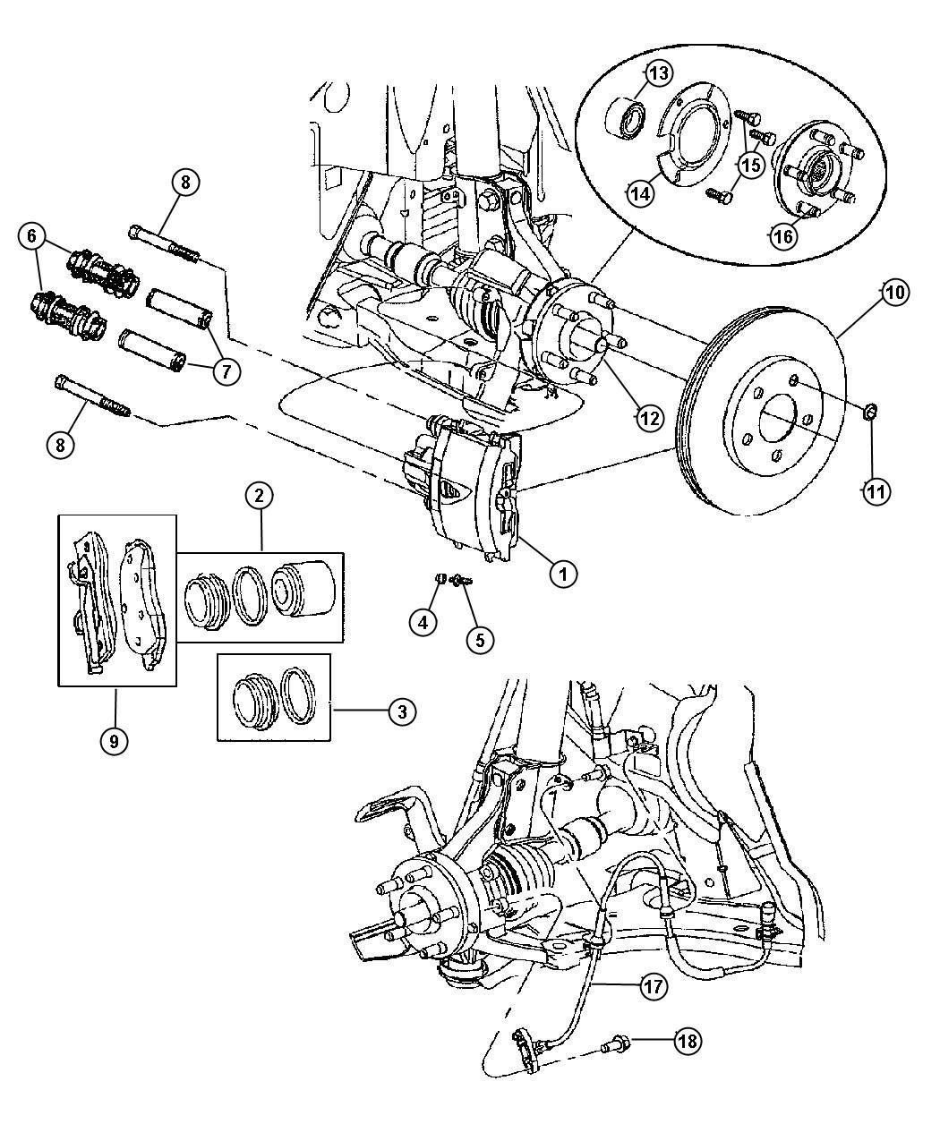 Chrysler Pt Cruiser Retainer Right Or Left Hub Bearing
