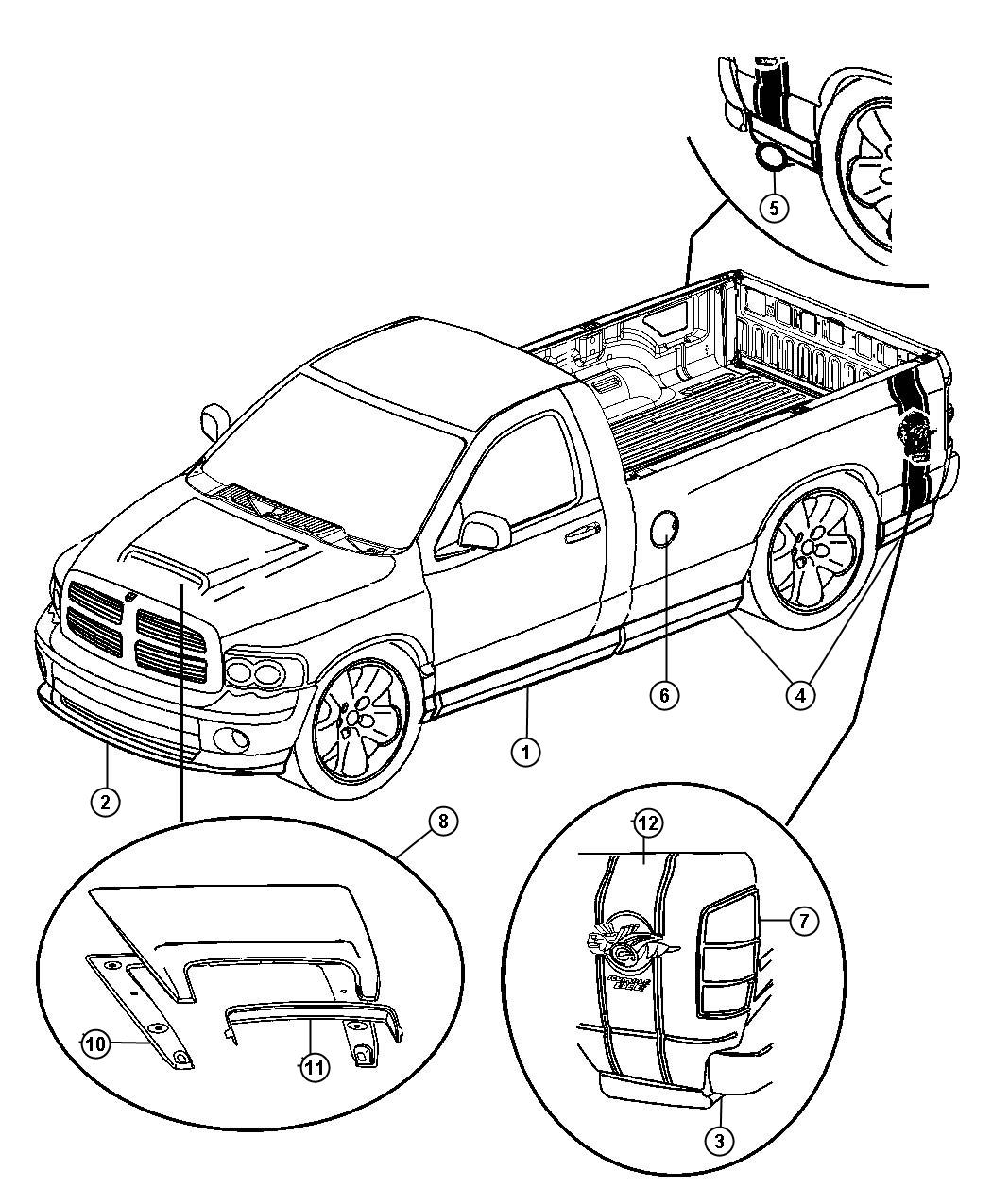 Dodge Ram Cladding Kit Lowerside Left Rumble Bee