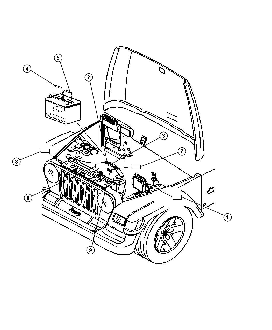 Jeep Wrangler Label Refrigerant