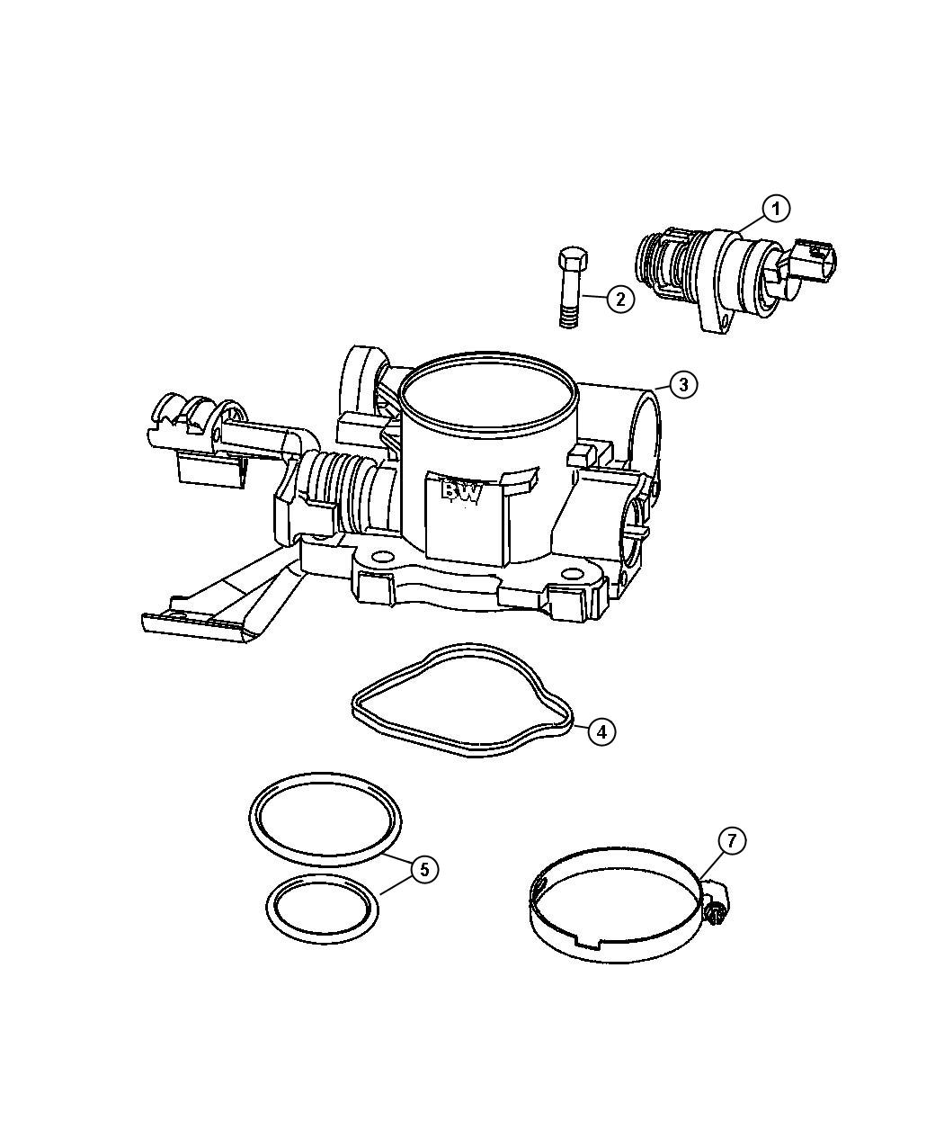 Jeep Commander Throttle Body Compoants