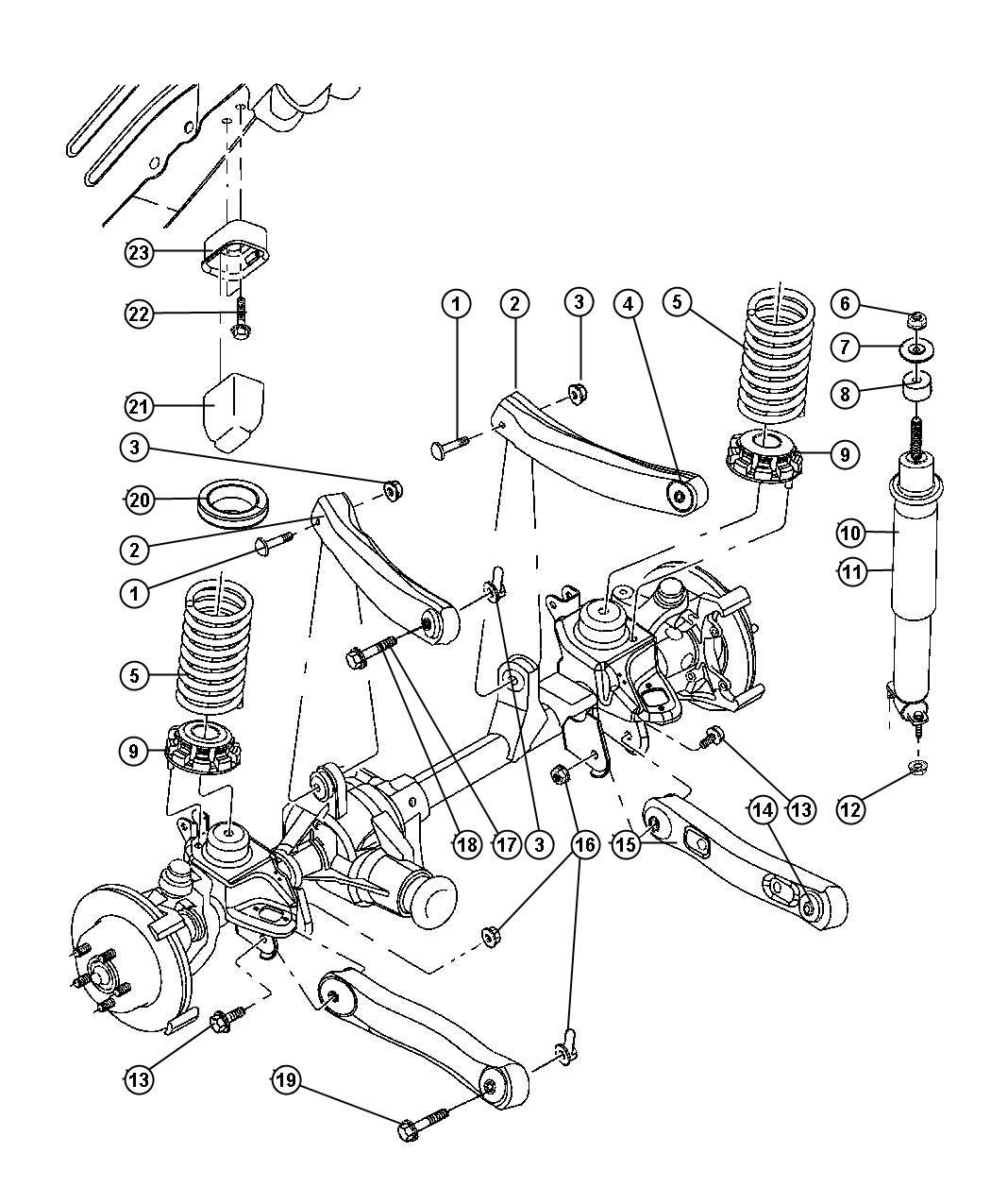 Jeep Grand Cherokee Isolator Lower Front Suspension