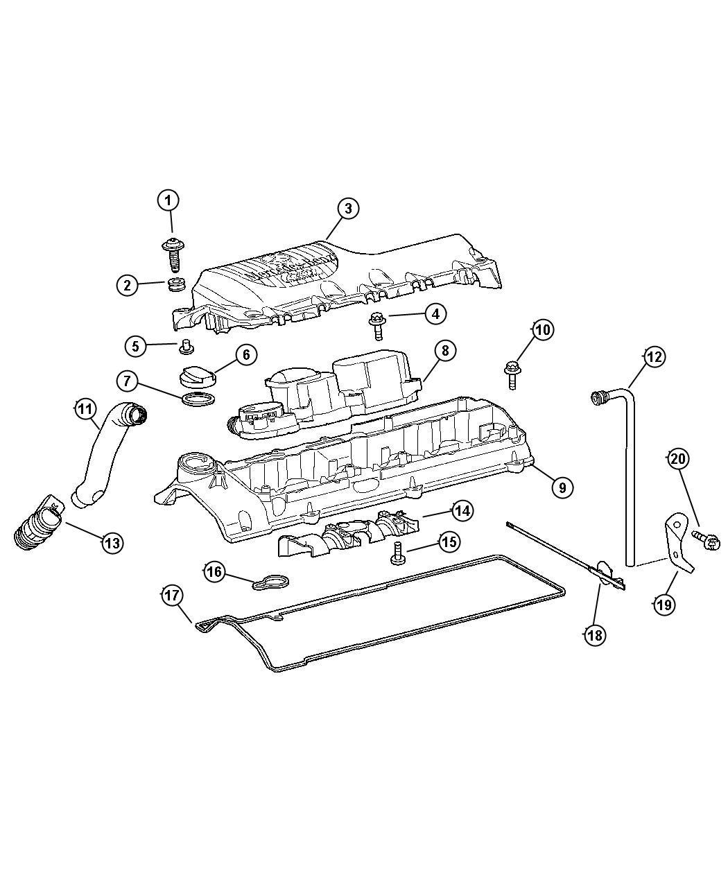 Dodge Sprinter Tube Breather Crankcase Vent Valve