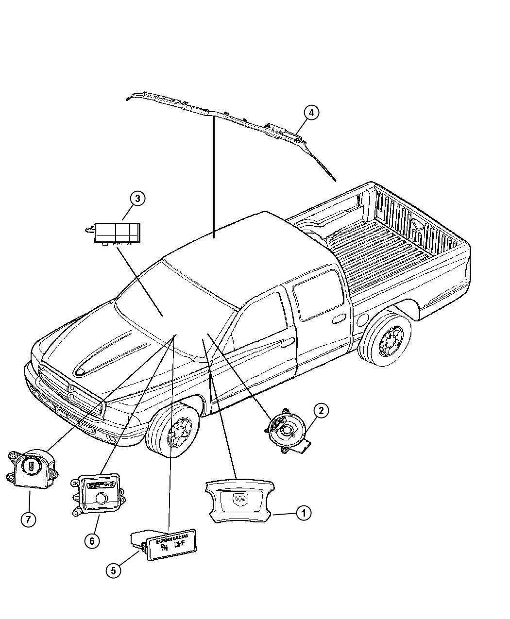 Chrysler 300 Clockspring Steering Column Control Module