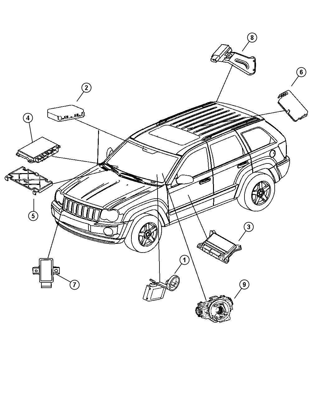 Jeep Commander Module Transmission Control Gdj