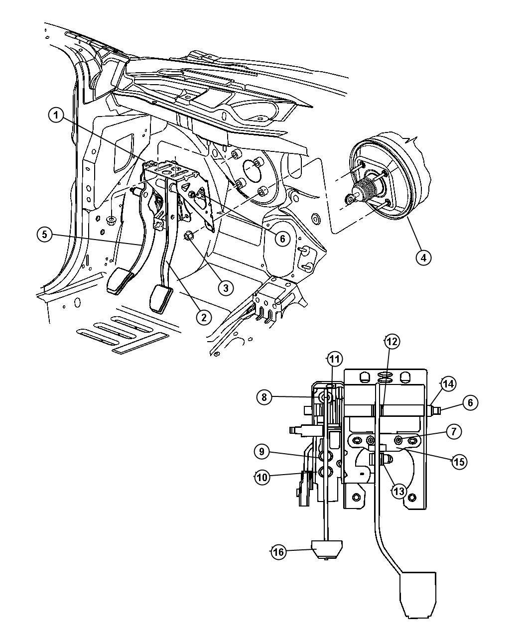 Chrysler Pt Cruiser Switch Clutch Starter Interlock