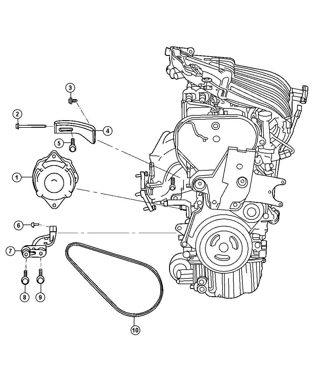 Chrysler Pt Cruiser Screw Header Point M8x1 25 Tapped
