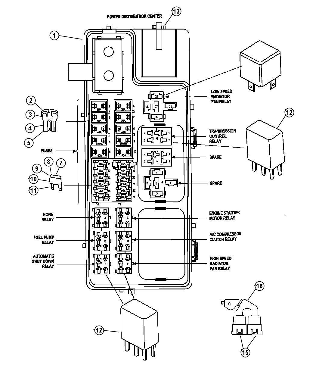 Chrysler Pt Cruiser Relay Mini Radiator Fan