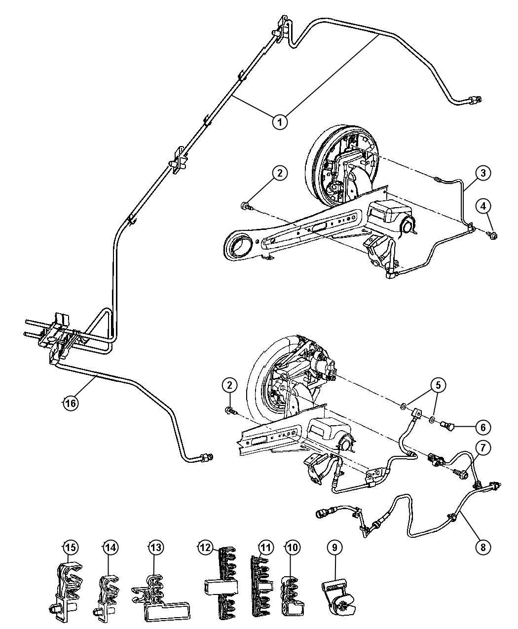 Chrysler Pt Cruiser Clip Fuel Fuel Rail Support