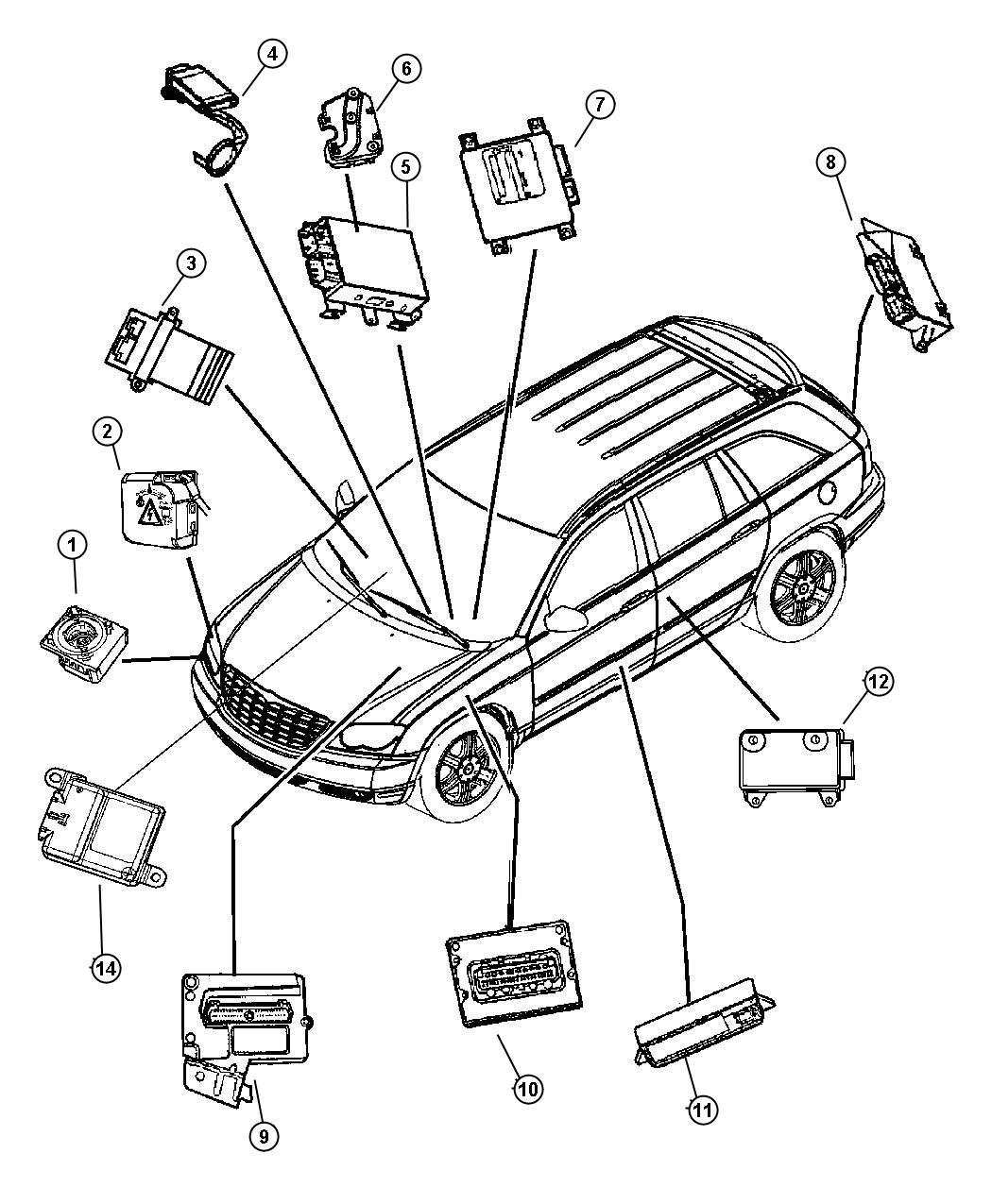 Chrysler Module Immobilizer Systemblackbeigeb