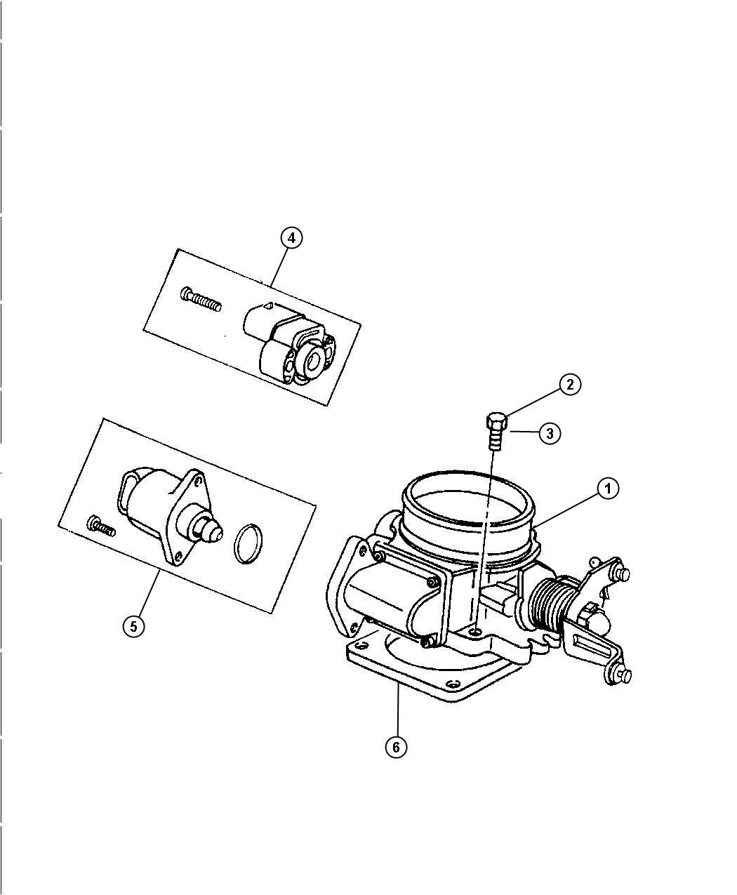 Jeep Wrangler Gasket Throttle Body Throttle Body To