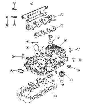 53022186AA  MOPAR Pad Engine Air fuel module, intake