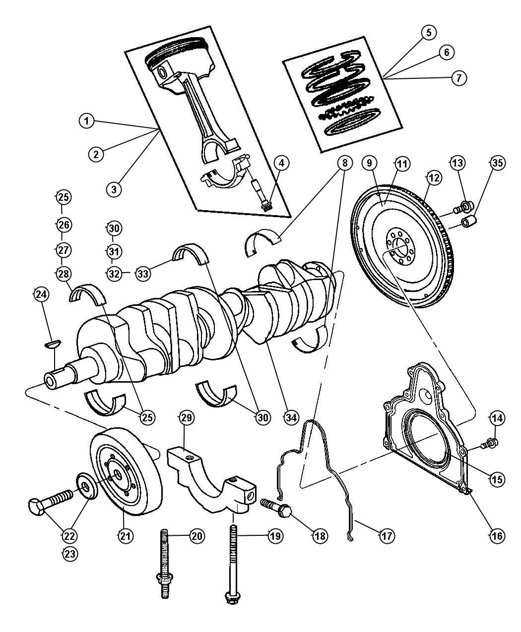 Dodge Ram Bolt Connecting Rod Mj9x1 00 4h Mj9 X