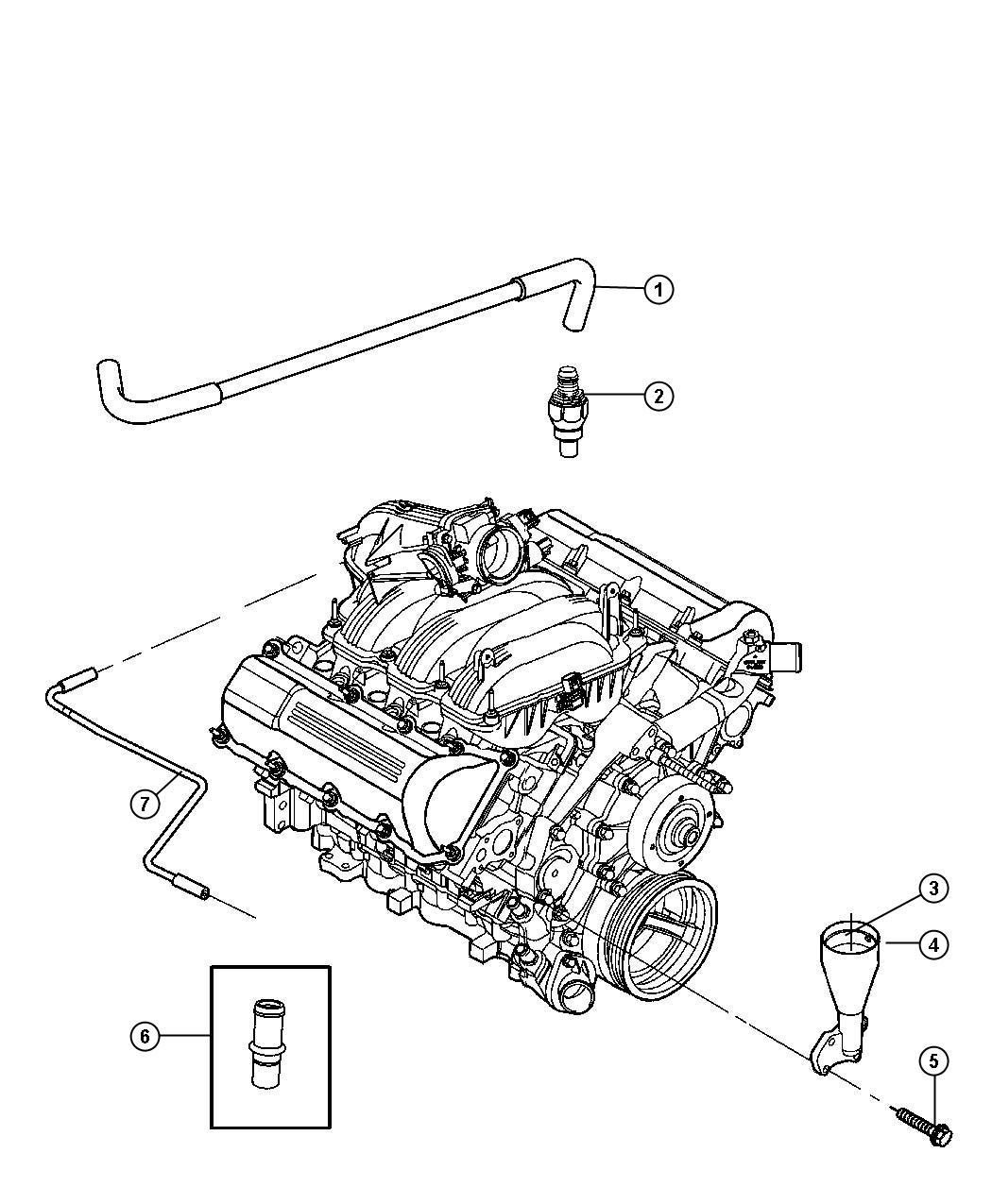 Jeep Commander Crankcase Ventilation 4 7l 4 7l V8