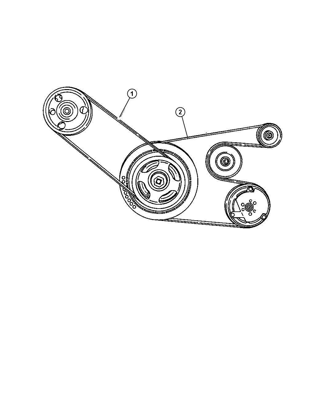 Chrysler Cirrus Serpentine Belt Removal
