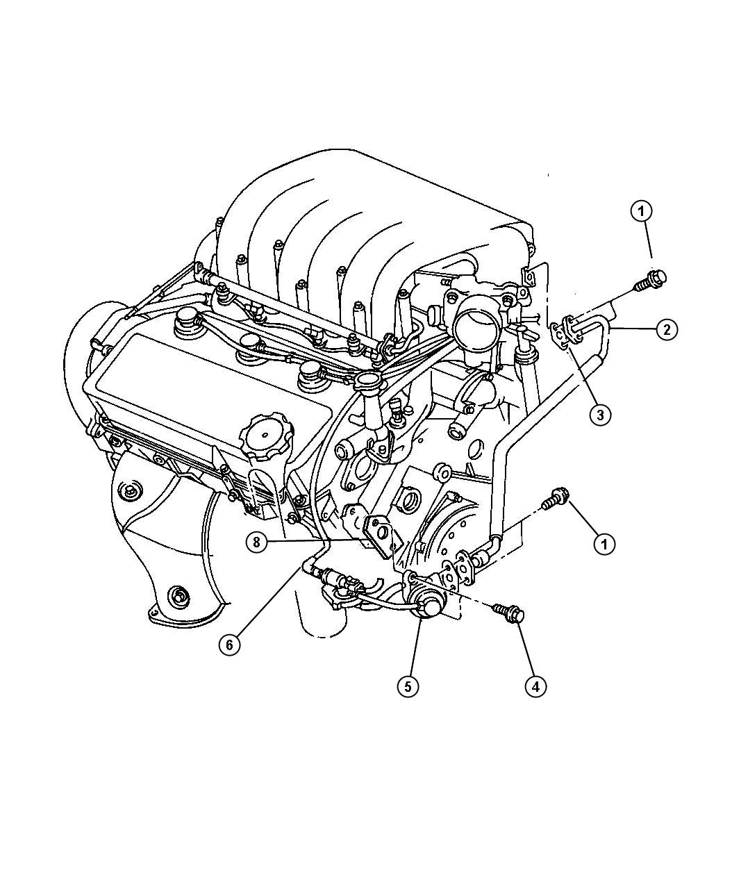 Dodge 2 5l Engine Diagram Stratus Dodge Auto Wiring