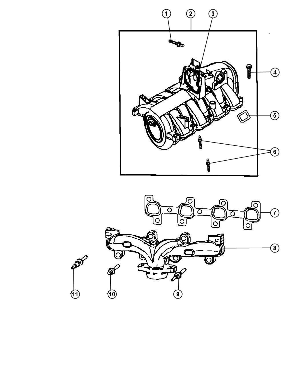 Dodge Dakota Cap Intake Manifold Vacuum Port
