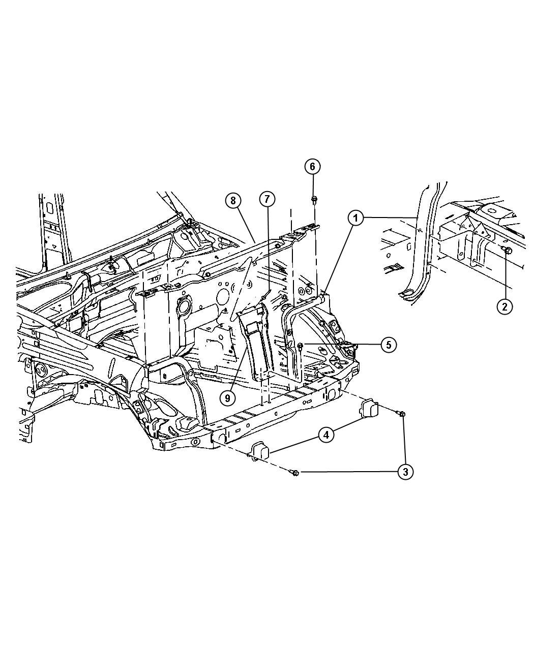 Jeep Liberty Reinforcement Hood Latch H And P