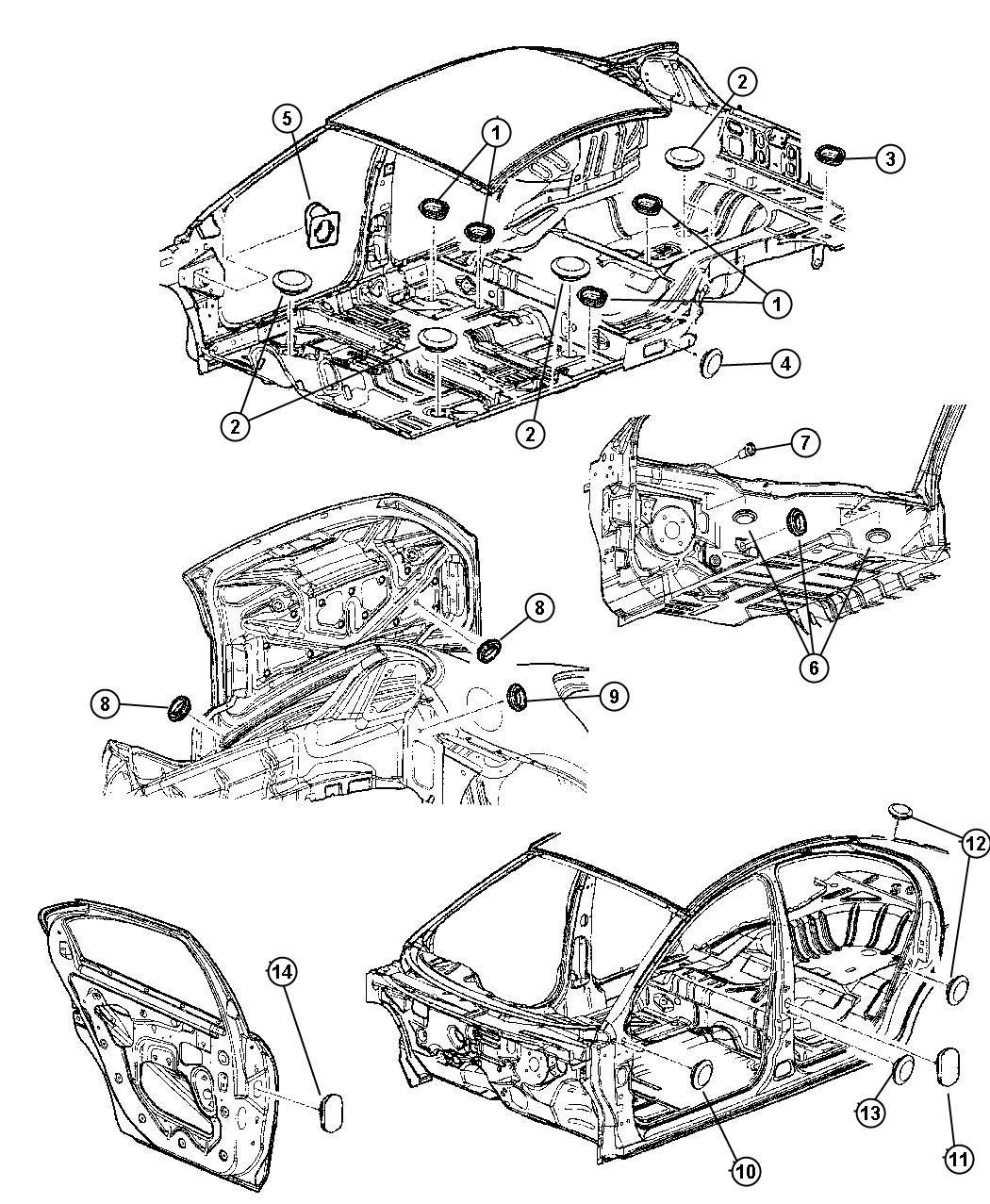 Chrysler 300 Plug Floor Pan Front Frt Flr Pan Man Shift