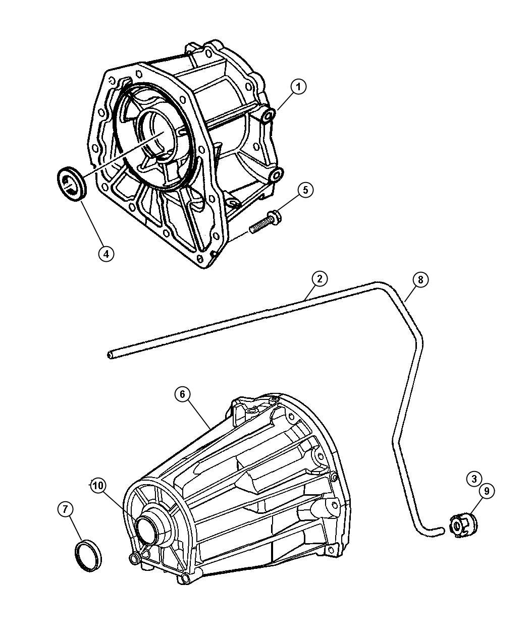 Dodge Ram Housing Transmission Rear Extension