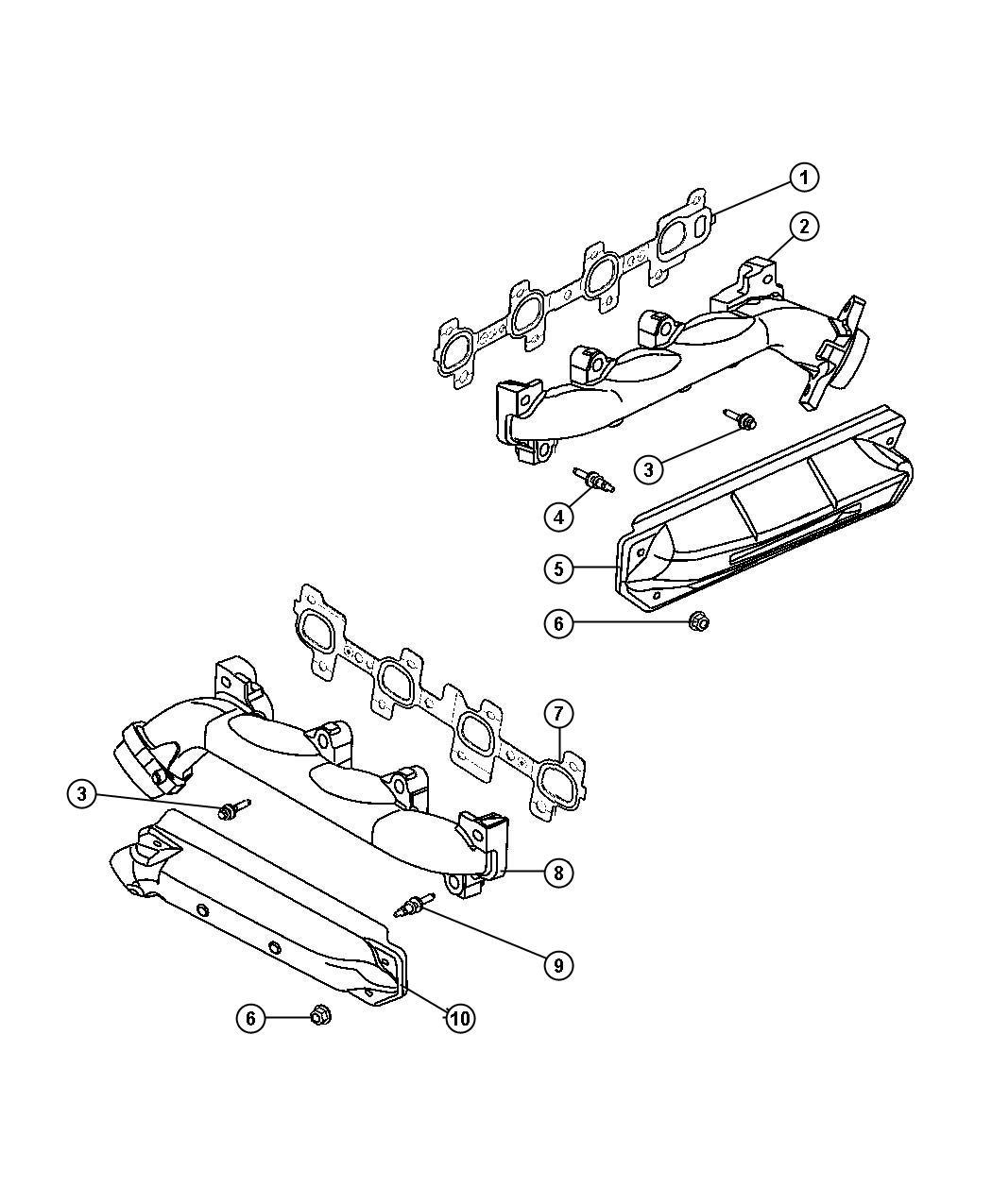 Dodge Dakota Bolt Exhaust Manifold M8x1 25x46 00