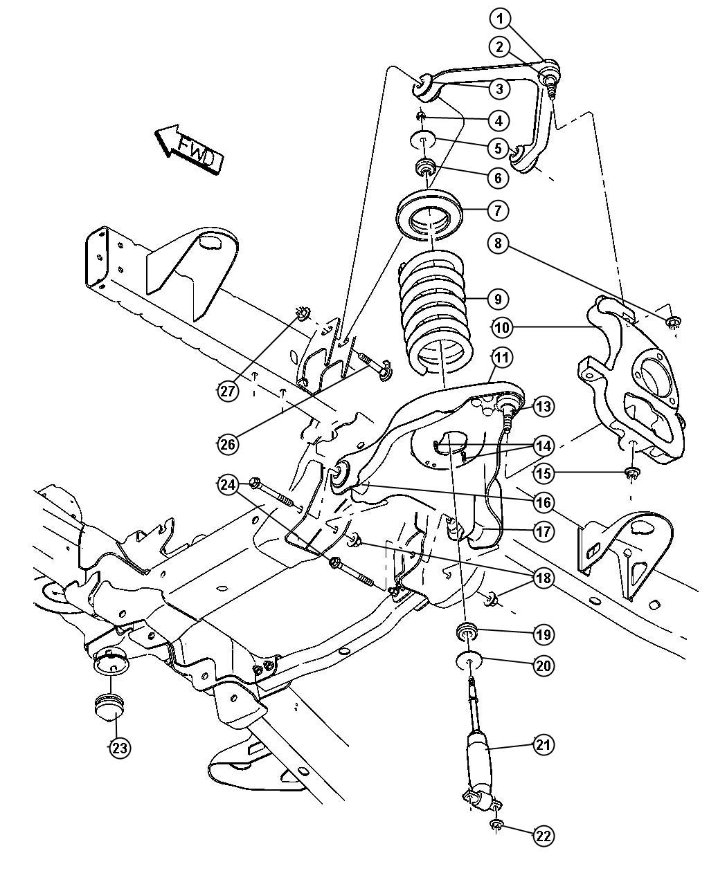 Dodge 4x4 Front Suspension Diagram