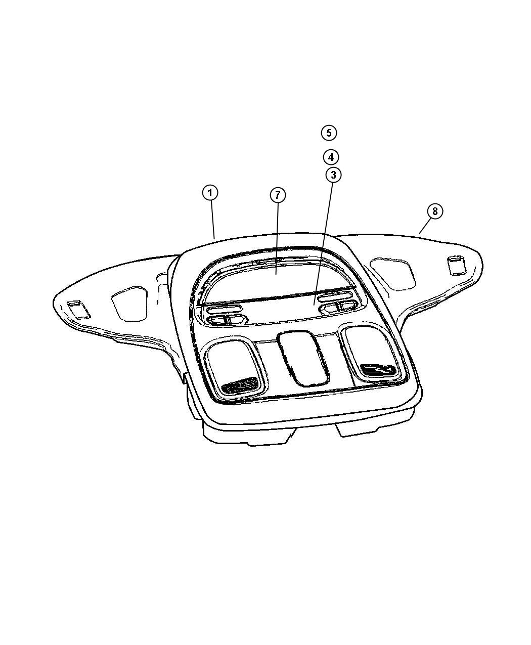 Dodge Ram Module Overhead Console Trim All