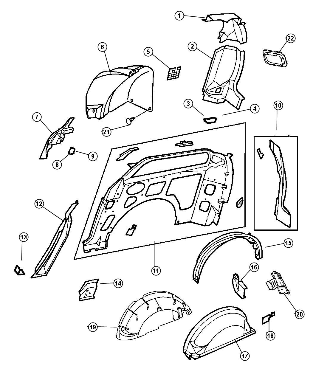 Chrysler town and country sliding door parts