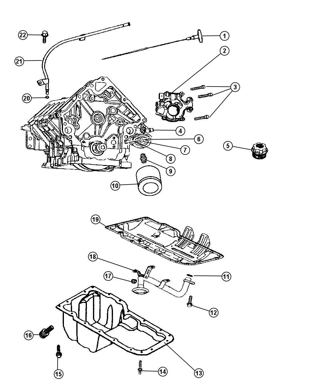 Dodge Ram Adapter Connector Oil Filter Oil Filter