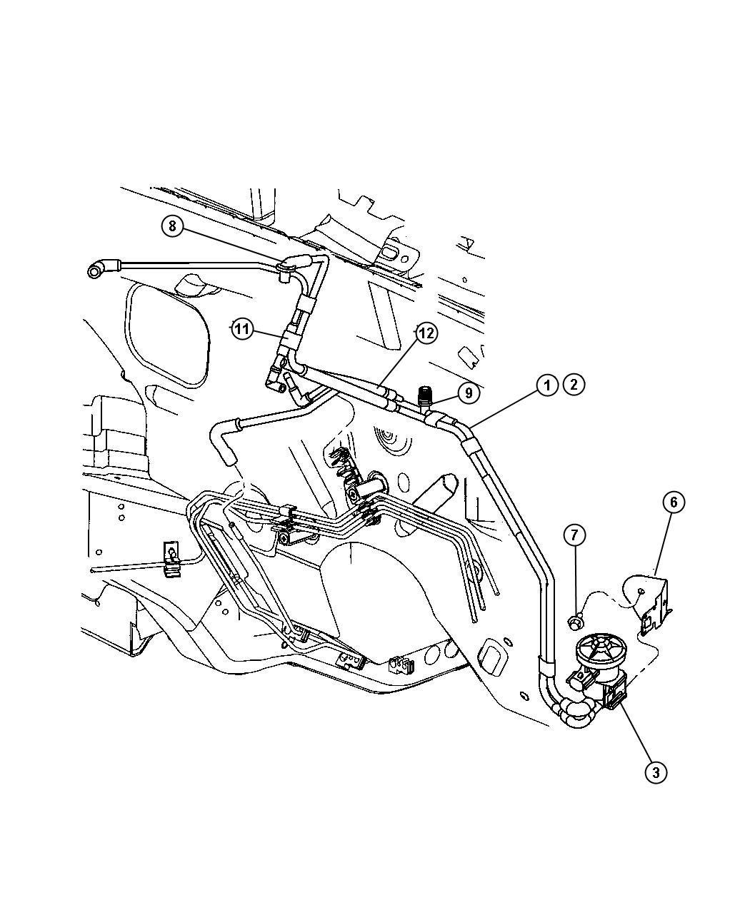 Chrysler Pt Cruiser Harness Vacuum Canister Purge