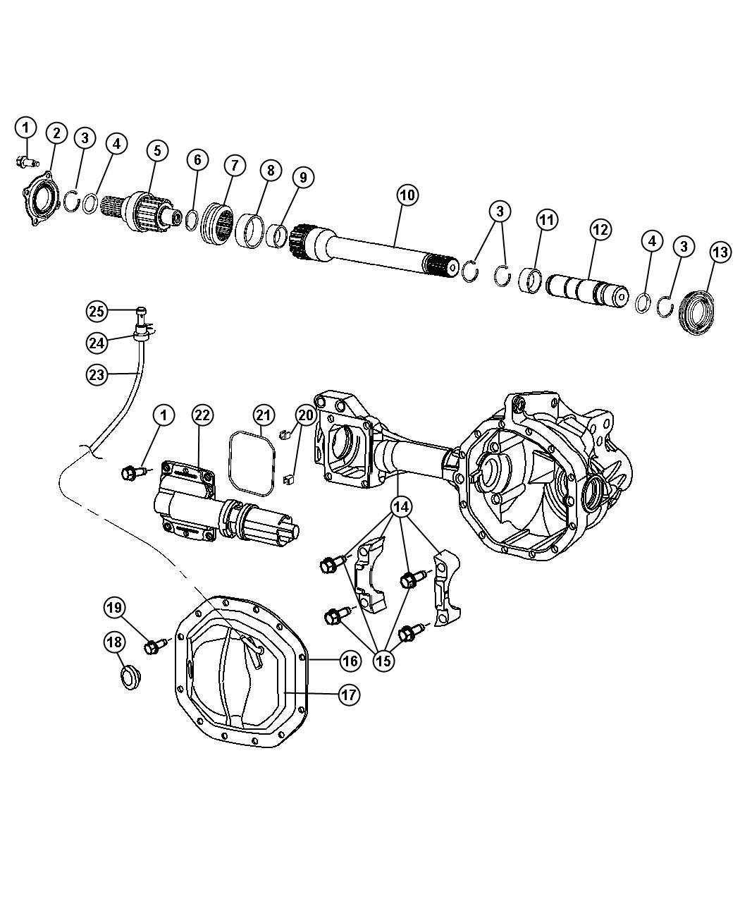 Dodge Ram Seal Axle Drive Shaft Right