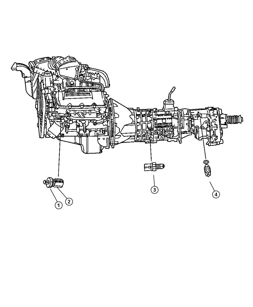 Jeep Grand Cherokee Sensor Switch Oil Pressure