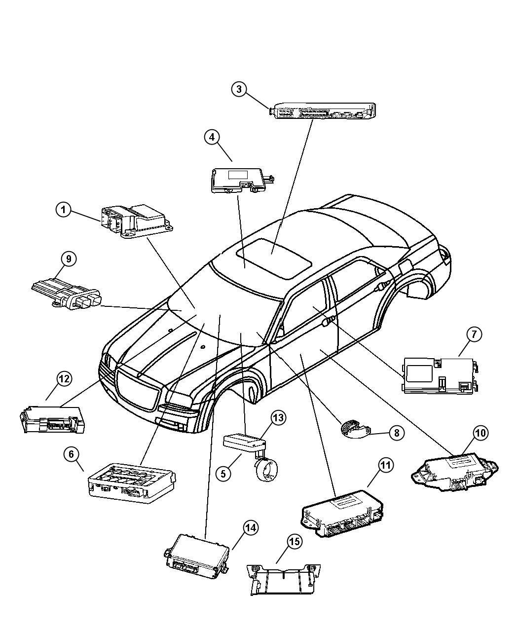 Chrysler 300 Receiver Keyless Entry Keyless Entry