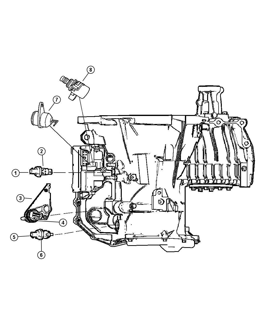Dodge Charger Sensors Transmission 4 Spd Automatic