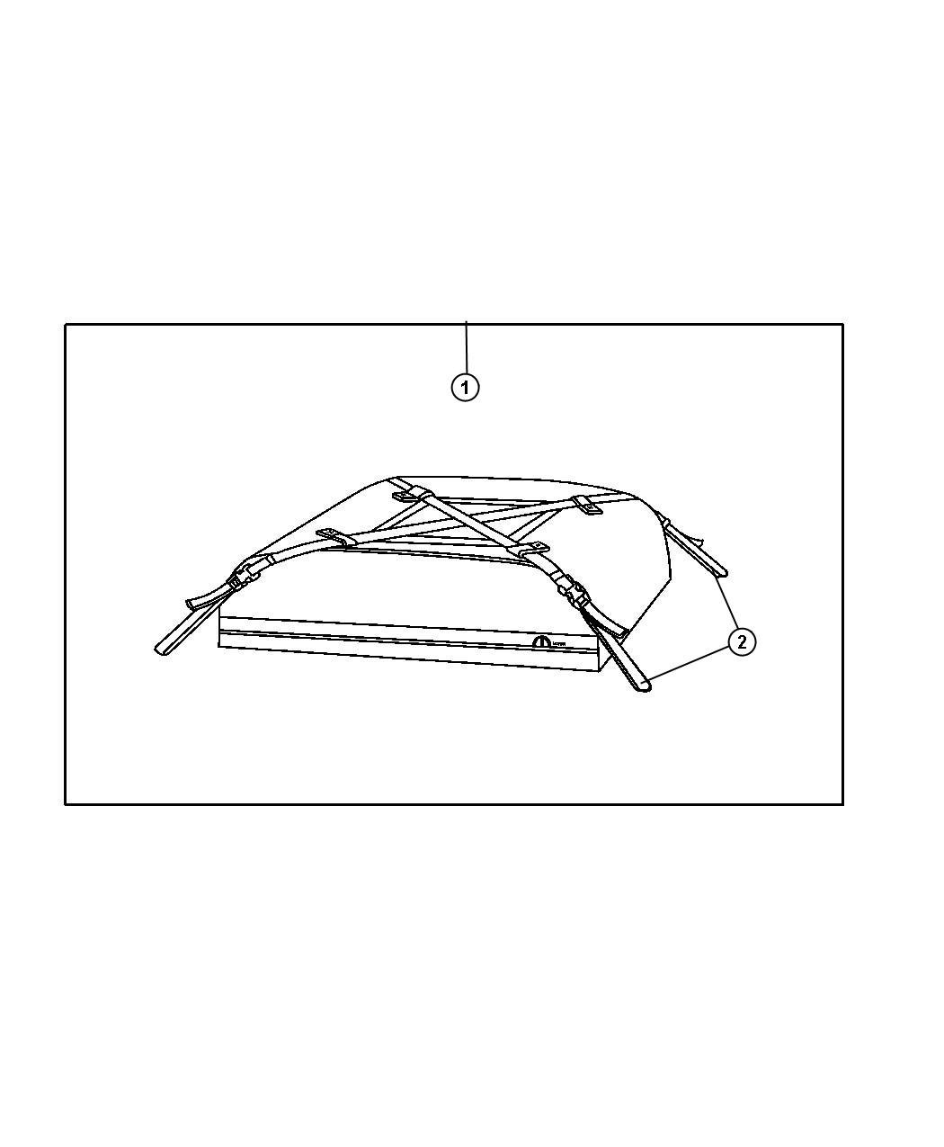 Jeep Grand Cherokee Soft Sided Roof Top Cargo Bag