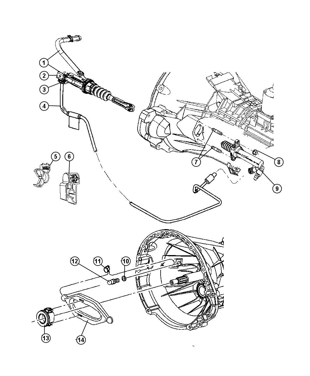 Jeep Wrangler X Controls Hydraulic Clutch