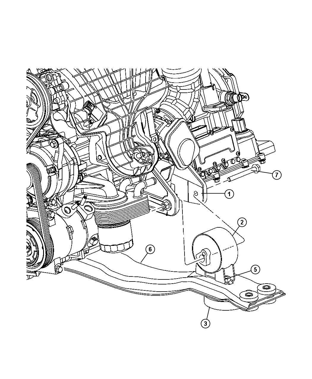 Chrysler Sebring Bracket Engine Mount Front Rear 6
