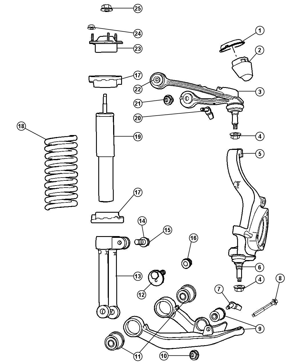 Dodge Nitro Suspension Diagram