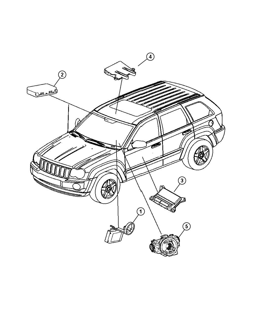 Jeep Grand Cherokee Module Rain Sensor Areas Vechile