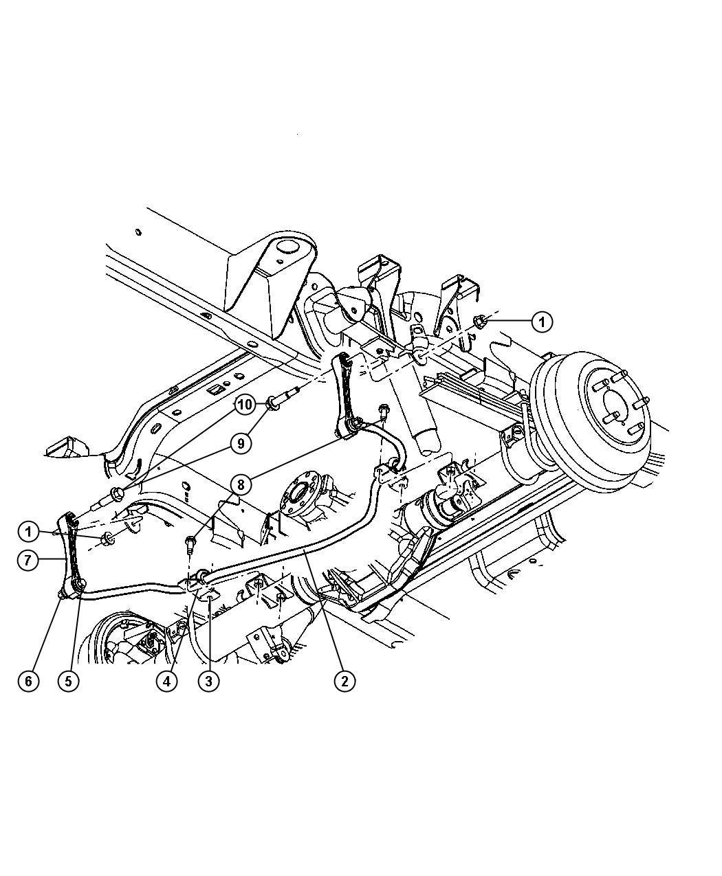 Jeep Wrangler Screw Shoulder Mounting Frameshoulder