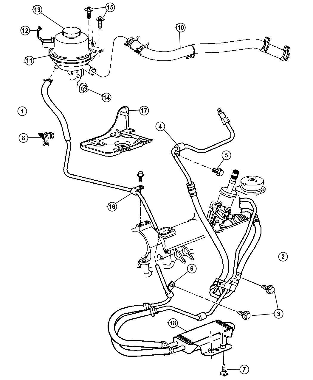 Dodge Grand Caravan Reservoir Power Steering Fluid