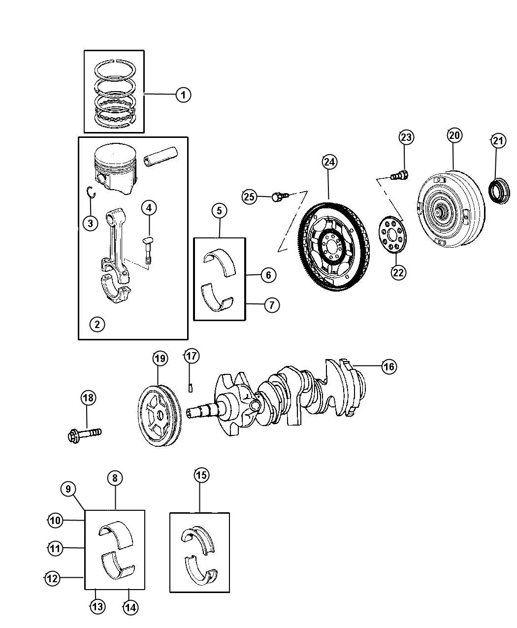 Dodge Durango Bolt Connecting Rod Mounting Connecting