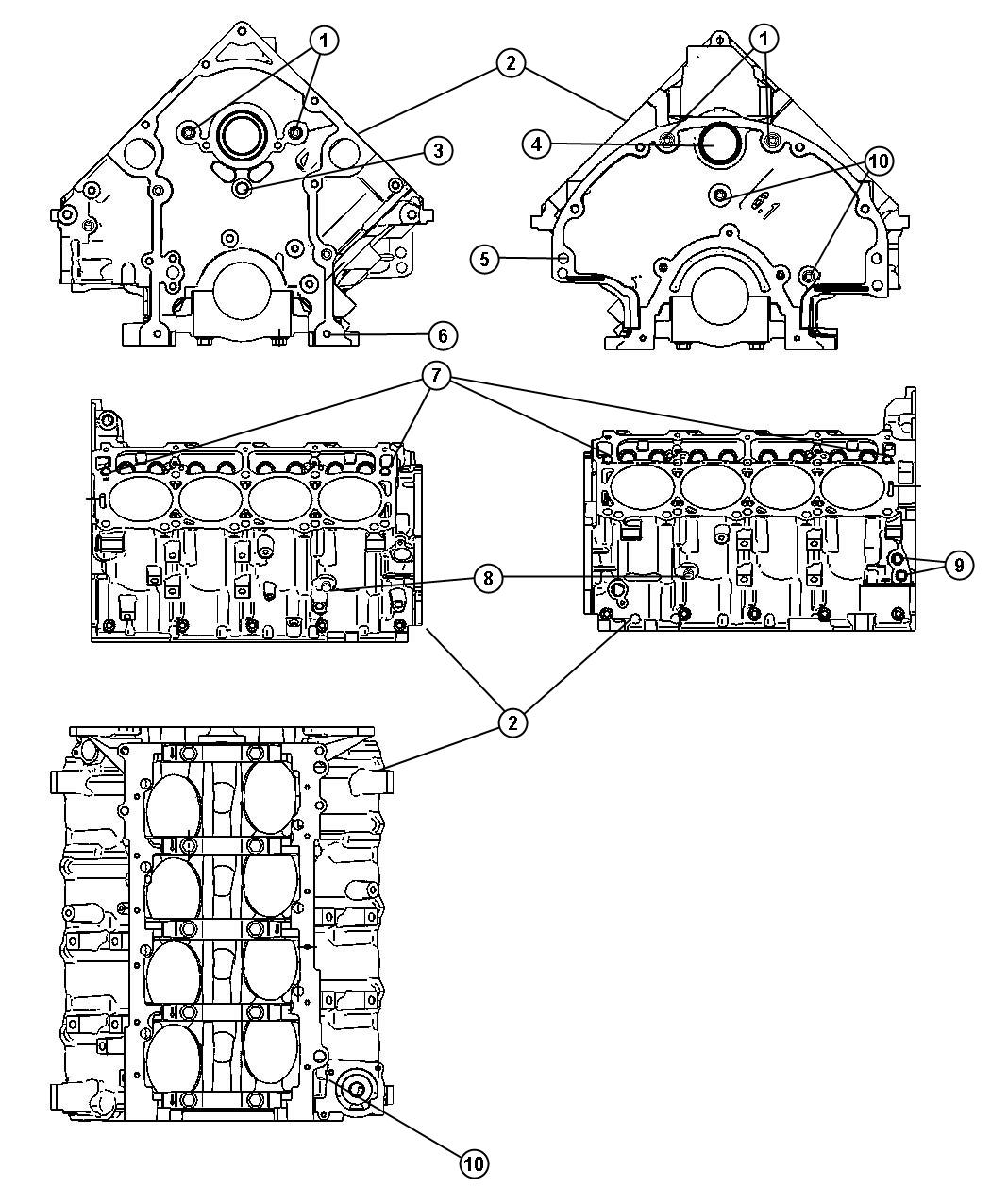 Dodge Ram Engine Short Block Remanufactured Multidisplacment Did Failure