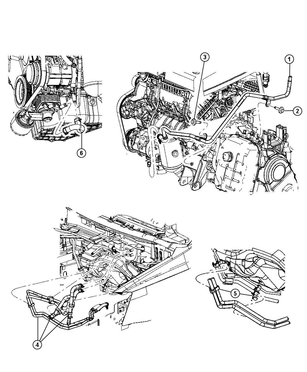 Heater Plumbing 4 0l 4 0l V6 Sohc Engine