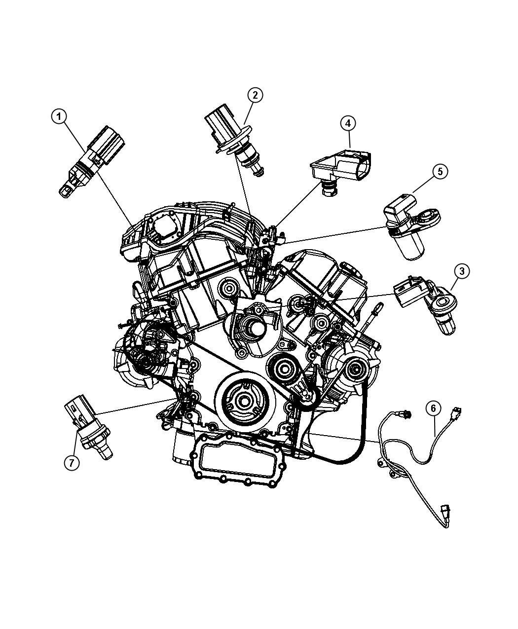 Chrysler Town Amp Country Sensor Crankshaft Position Egt