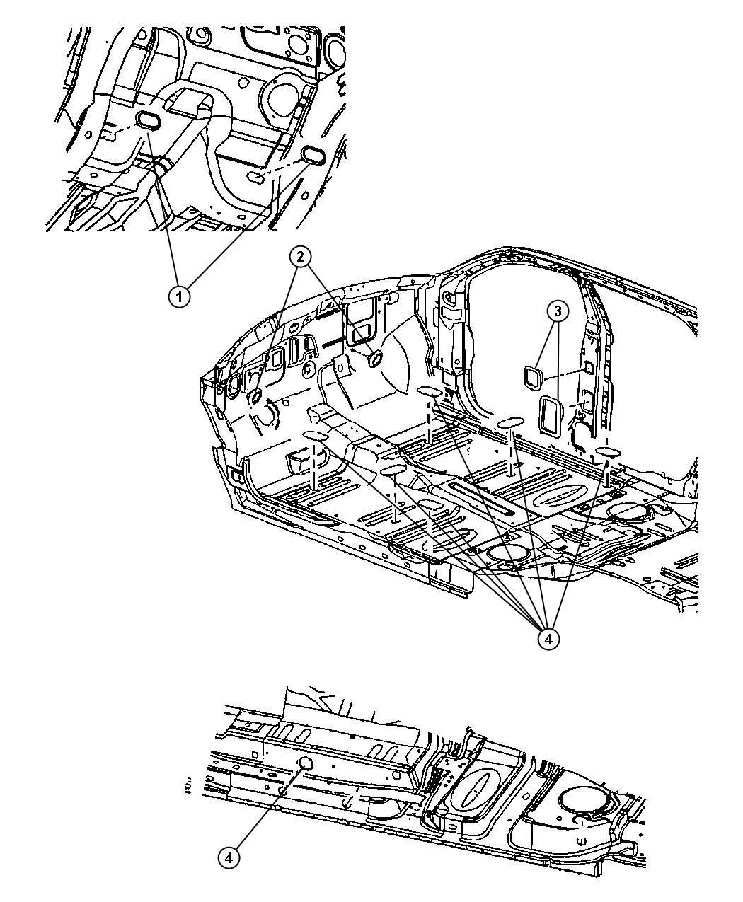 Chrysler Pacifica Plug Dash Panel Ecoat Ssill Floorsrt