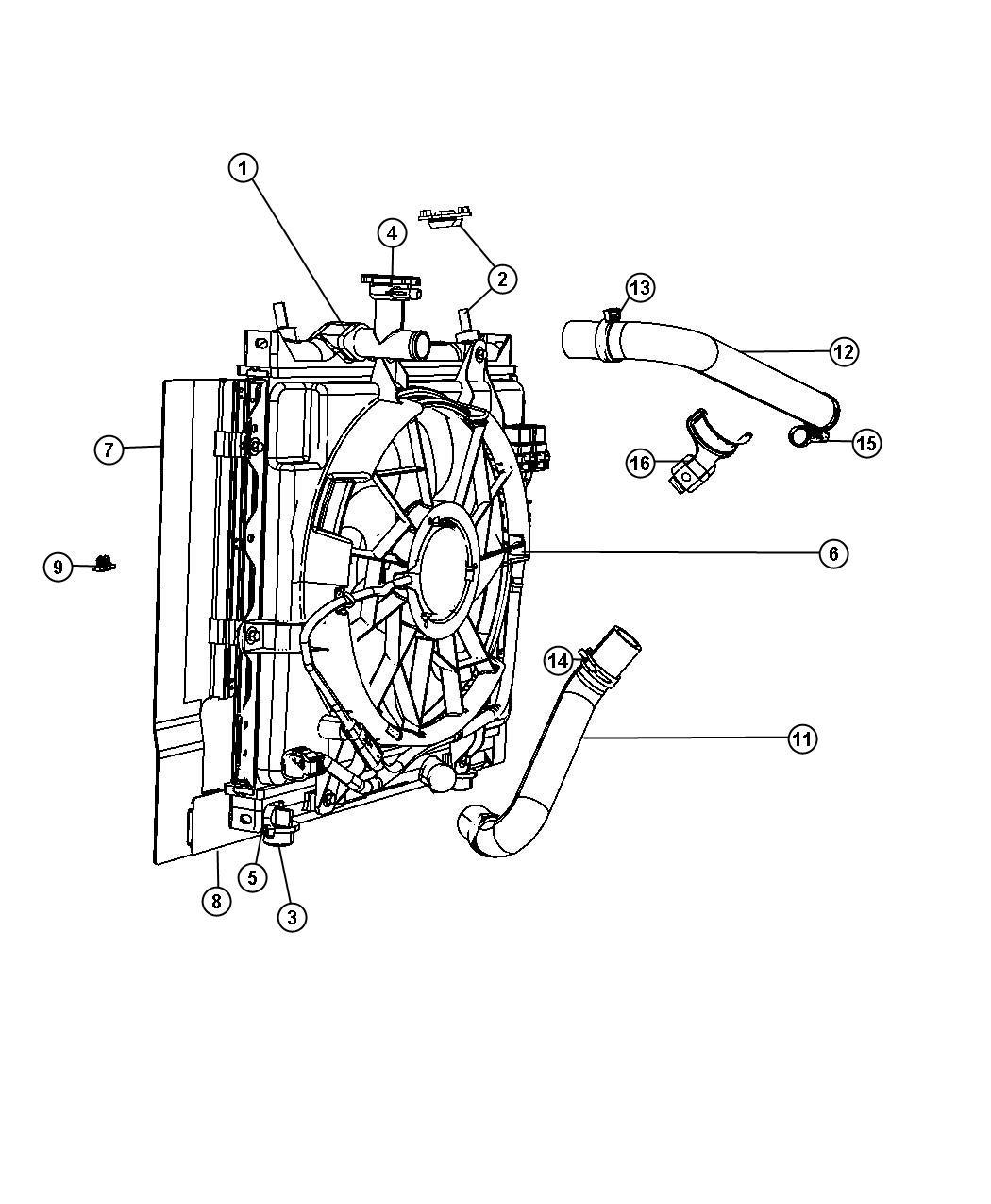 Chrysler Pt Cruiser Fan Module Radiator Cooling Fan