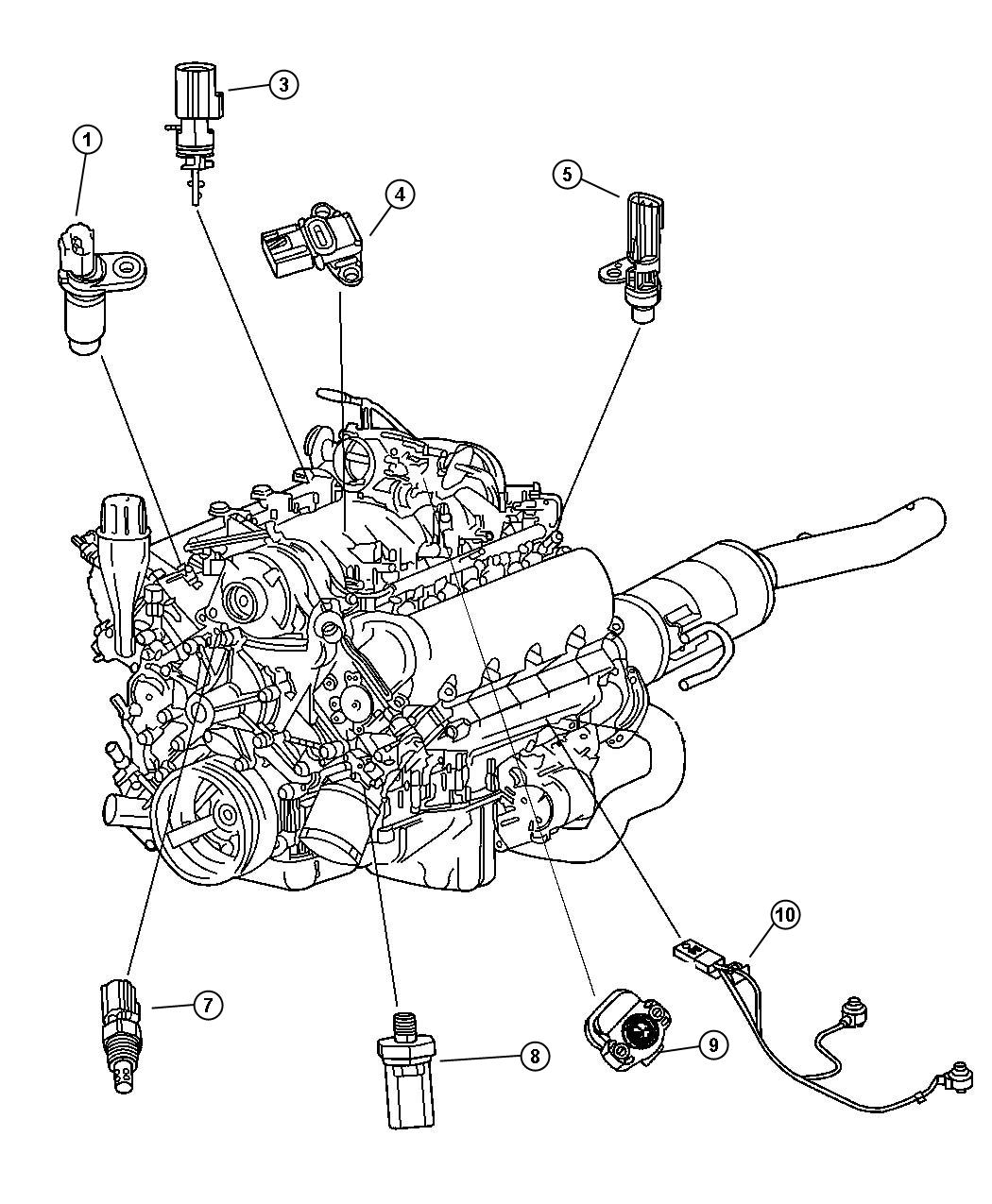 Chrysler Aspen Sensor Camshaft
