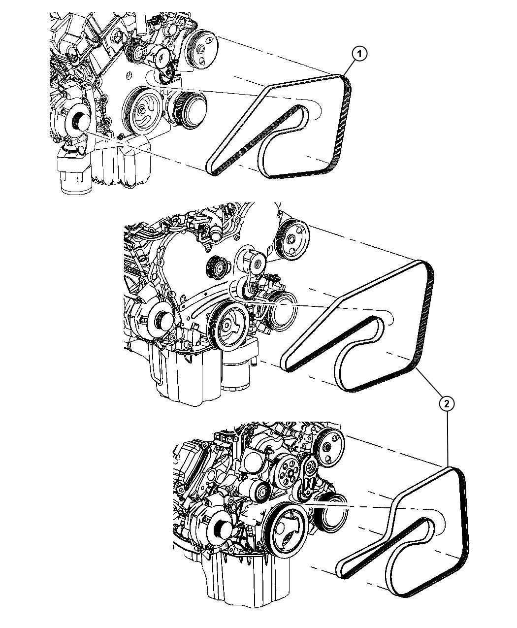 Chrysler 300 Belt Accessory Drive Serpentine 6 1l