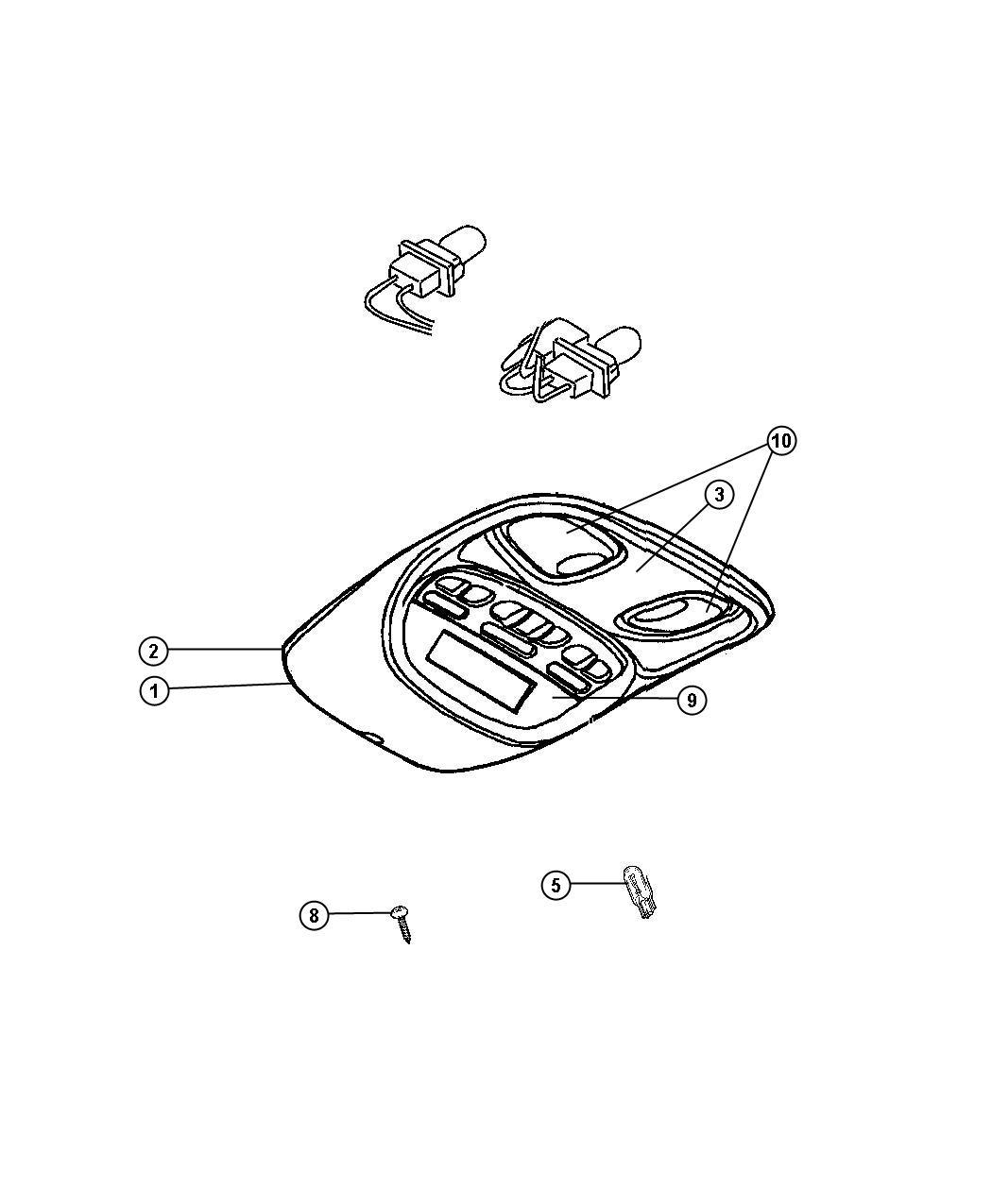 Chrysler Aspen Lens Courtesy Lamp Overhead Console
