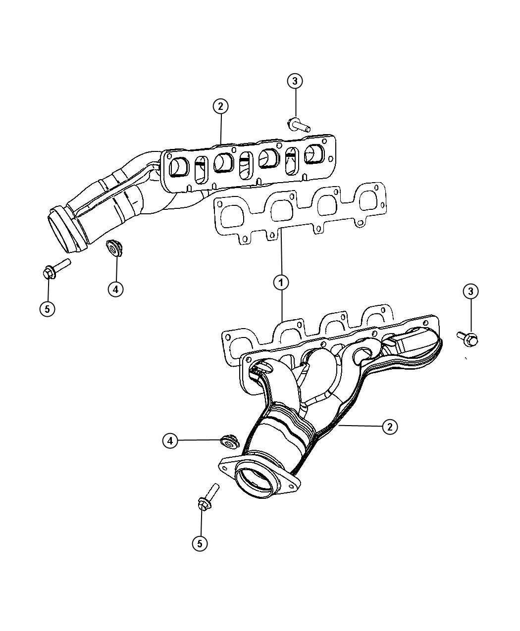 Chrysler 300 Gasket Exhaust Manifold Left Left